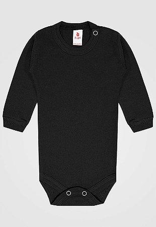Body Zupt Baby Longo Básico Preto