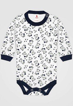 Body Zupt Baby Ursinho Azul Marinho