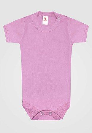 Body Zupt Baby Curto Básico Rosa