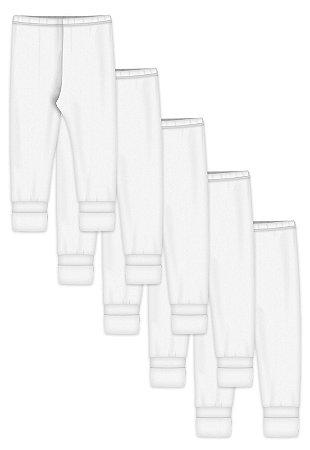 Kit 5pçs Calça Zupt Baby Pé Reversível Branco