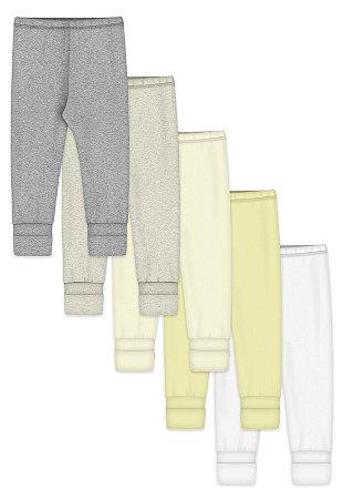 Kit 5pçs Calça Zupt Baby Pé Reversível Neutro