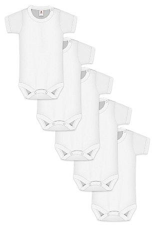 Kit 5pçs Body Zupt Baby Curto Branco
