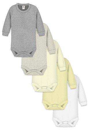 Kit 5pçs Body Zupt Baby Longo Neutro