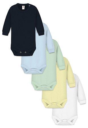 Kit 5pçs Body Zupt Baby Longo Menino