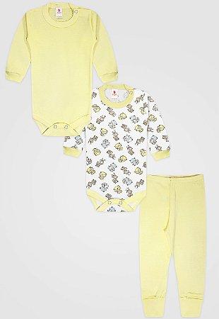 Kit 3pçs Body Zupt Baby Longo Raposa Amarelo
