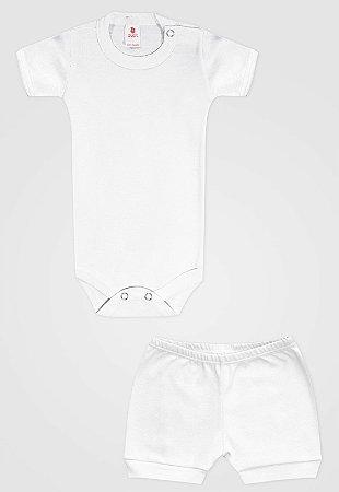Conjunto 2pçs Zupt Baby Curto Branco