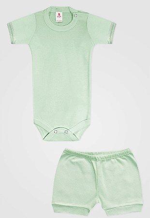 Conjunto 2pçs Zupt Baby Curto Verde
