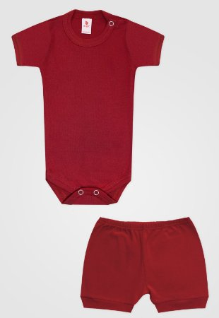 Conjunto 2pçs Zupt Baby Curto Vermelho