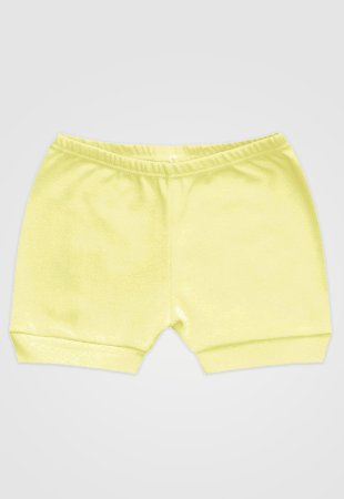 Shorts Zupt Baby Básico Amarelo