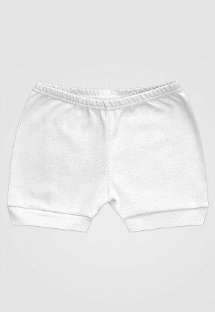 Shorts Zupt Baby Básico Branco