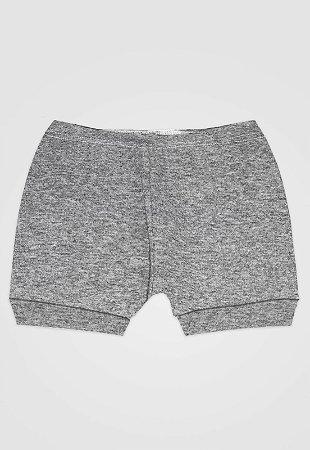 Shorts Zupt Baby Básico Mescla Cinza