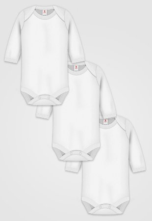 Kit 3pçs Body Zupt Baby Neutro Branco