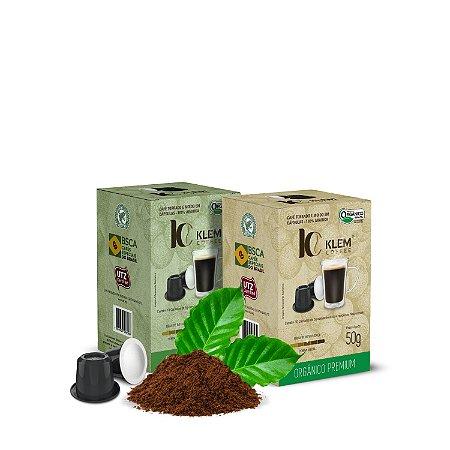 Combo Café Orgânico Premium e Gourmet Especial Cápsulas 100g