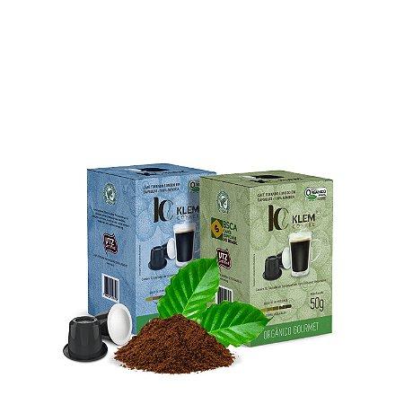 Combo Café Orgânico Gourmet e Clássico Especial Cápsulas 100g
