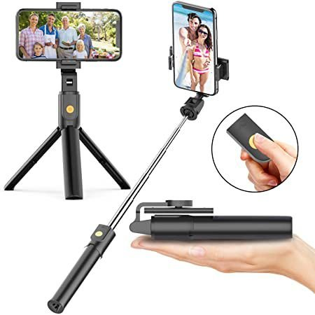 Pau de Selfie e Tripé com controle Bluetooth sem fio