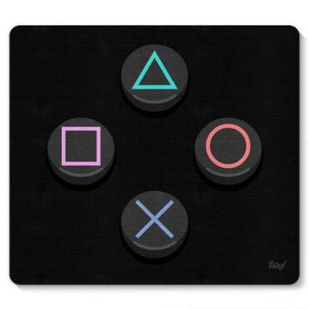 Mouse Pad PC Gamer Sonysta Controle PS 23x20cm Yaay! PAD056