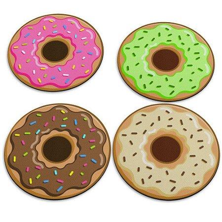 Jogo de Porta Copos 4 Peças Donuts Rosquinhas Yaay! PCP004