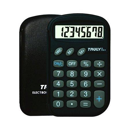 Calculadora de Bolso 8 Dígitos Capa Proteção Truly 319A