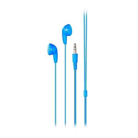 Fone de Ouvido Básico Estéreo P2 Azul Multilaser PH314