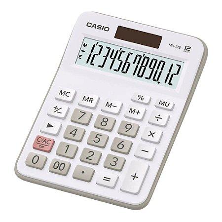 Calculadora de Mesa 12 Dígitos Visor XI Branca Casio MX-12B