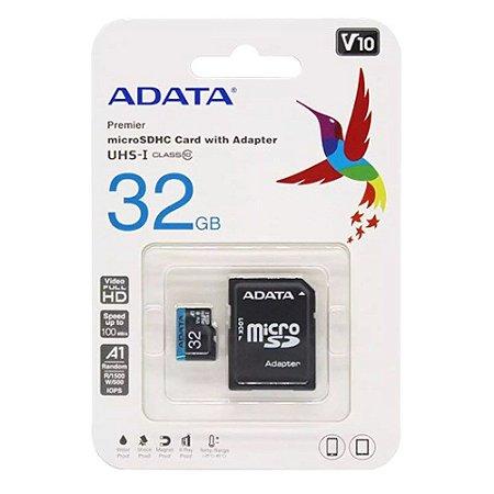 Cartão de Memória SD 32GB Premier ADATA AUSDH32GUICL10A1-RA1