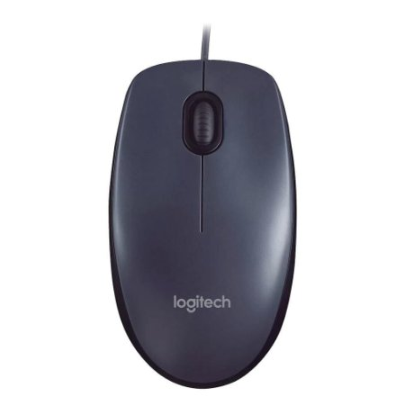 Mouse Óptico USB 1000 DPI Preto Logitech M90