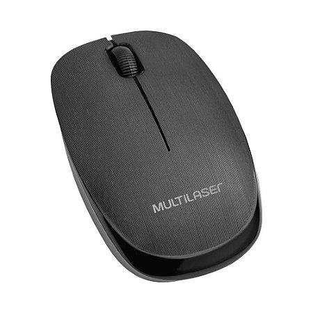 Mouse Óptico Sem Fio 1200 DPI Preto Multilaser MO251