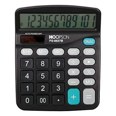 Calculadora de Mesa 12 Dígitos Preta Hoopson PS-8837B