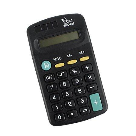 Calculadora de Bolso 8 Dígitos Preta Wec WX4890