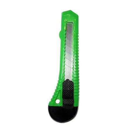 Estilete Largo Lâmina 18mm Verde LeoArte 91411