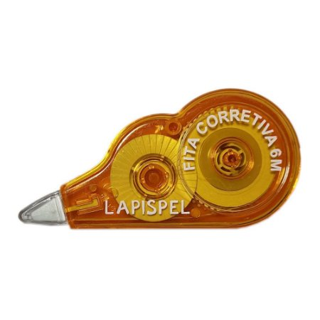 Fita Corretiva 5mm 6 Metros Laranja Lapispel 802415