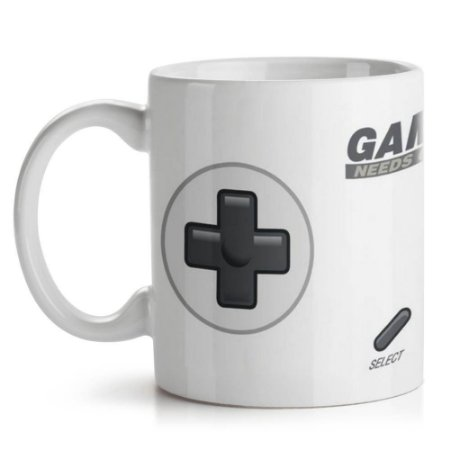 Caneca de Cerâmica 325ml Gamer Needs Coffee Yaay! CAN084