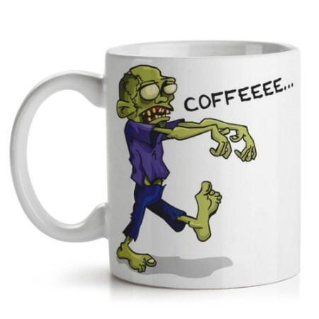 Caneca de Cerâmica 325ml Zombie Wants Coffee Yaay! 1959
