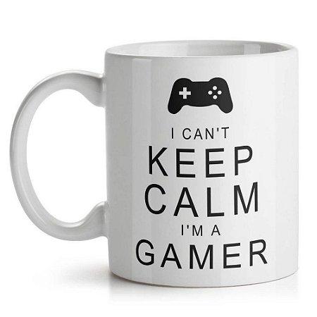 Caneca de Cerâmica 325ml Gamer Can't Keep Calm Yaay! CAN123