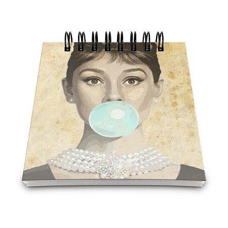 Bloco de Anotações 60 Folhas Audrey Hepburn Yaay! BLO040