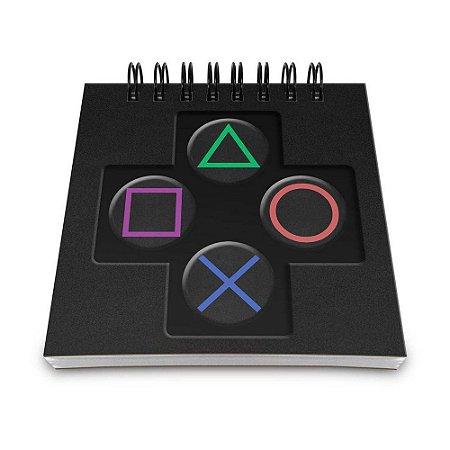 Bloco de Anotações 60 Folhas Gamer Controle PS Yaay! BLO035