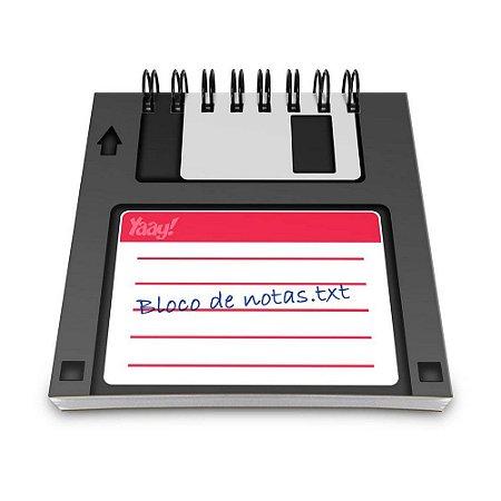 Bloco de Anotações 60 Folhas Floppy Notas TXT Yaay! BLO019