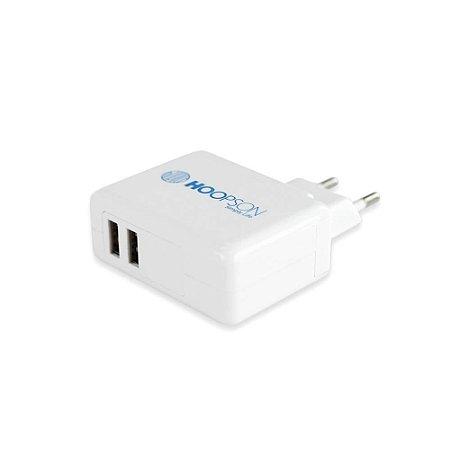 Carregador de Tomada 2.4A USB 2 Portas Bivolt Hoopson CEL-06