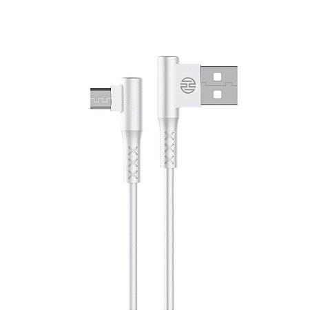 Cabo Micro USB Conector L 1,2m Branco Hoopson CH11