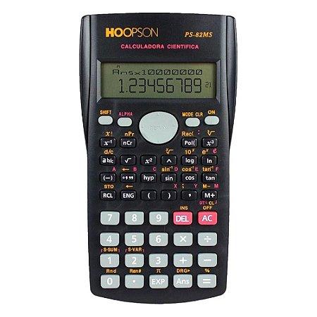 Calculadora Científica 240 Funções Preta Hoopson PS-82MS