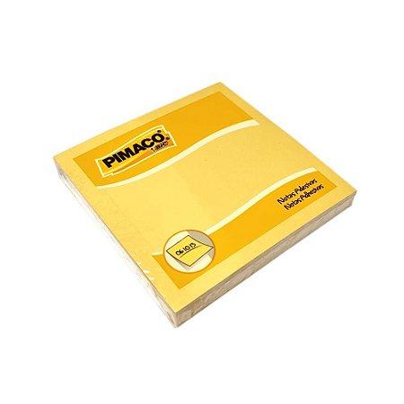Bloco Adesivo 76x76mm 100 Folhas Amarelo Pimaco 210