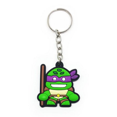 Chaveiro Emborrachado Tartaruga Donatello Yaay! KEY058