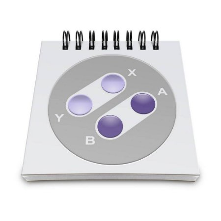 Bloco de Anotações 60 Folhas Gamer 16 Bits Rmx Yaay! BLO032