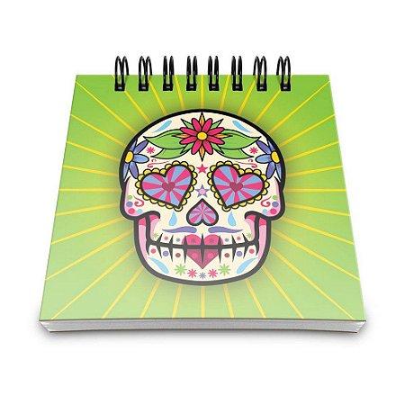 Bloco de Anotações 60 Folhas Dia de Los Muertos Yaay! BLO010
