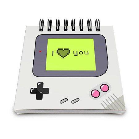 Bloco de Anotações 60 Folhas Gamer Boy Love You Yaay! BLO018