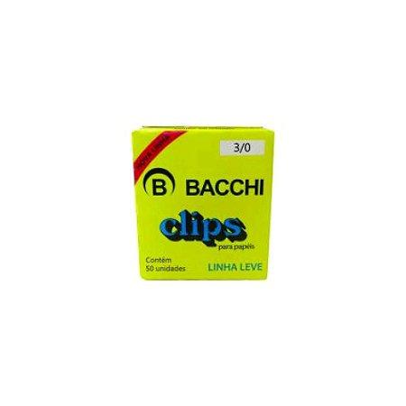 Clips para Papel Aço Galvanizado 3/0 c/ 50 Un Bacchi 0907-4