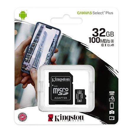 Cartão de Memória SD 32GB Canvas Select Kingston SDCS2/32GB