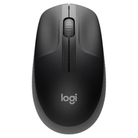 Mouse Óptico Sem Fio 1000 DPI Cinza Logitech M190