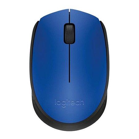 Mouse Óptico Sem Fio 1000 DPI Azul Logitech M170