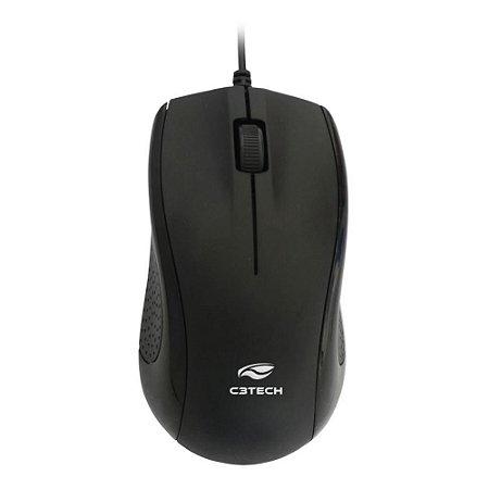 Mouse Óptico USB 1000 DPI Preto C3Tech MS-25BK